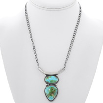 Native American Royston Turquoise Pendant 35301