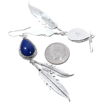 Native American Lapis Western Dangle Earrings 35302