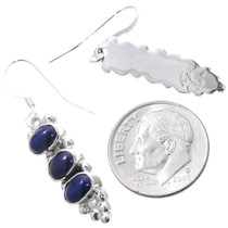 Native American Sterling Silver Lapis Earrings 35303