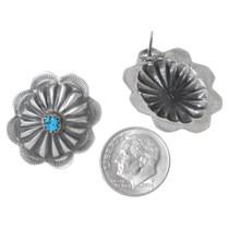 Silver Concho Western Earrings 35307