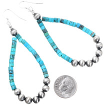 Turquoise Desert Pearl Dangle Earrings 35308
