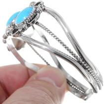 Kingman Turquoise Navajo Bracelet 35309