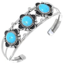 Navajo Ladies Turquoise Silver Bracelet 35309