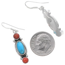 Turquoise Sterling Silver Navajo Earrings 35314