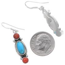 Turquoise Sterling Silver Navajo Earrings 35314