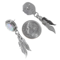 Sterling Silver Native American Opal Earrings 35316