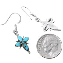 Sterling Silver Navajo Turquoise Earrings 35318
