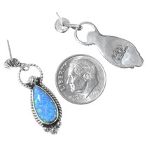 Sterling Silver Opal Earrings 35319