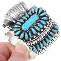 Turquoise Cluster Native American Watch Cuff  35323