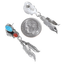 Native American Sterling Silver Turquoise Earrings 35325