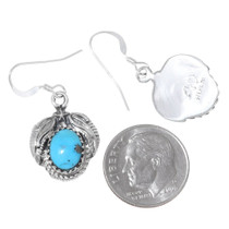 Native American Made Turquoise Silver Earrings 35331