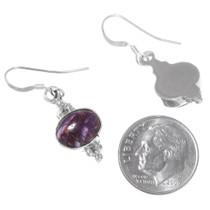 Purple Gemstone Sterling Silver Earrings 35332