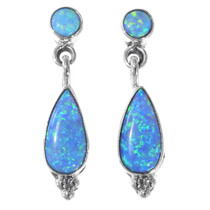 Navajo Blue Opal Earrings 35333