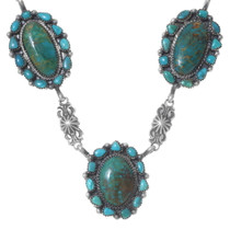 Navajo Turquoise Cluster Y Necklace 35334