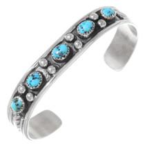 Vintage Turquoise Silver Navajo Cuff Bracelet 35341