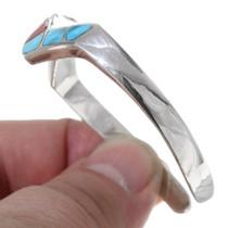 Navajo Harold Stevens Zig Zag Turquoise Bracelet 35343