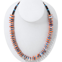 Spiny Oyster Shell Heishi Necklace 35347