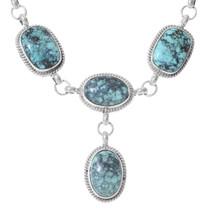 Spiderweb Turquoise Navajo Y Necklace Set 35351