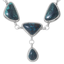 Sterling Silver Turquoise Navajo Y Necklace 35356