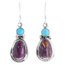 Purple Spiny Oyster Shell Earrings 35360