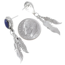 Navajo Sterling Silver Lapis Lazuli Earrings 35365