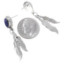 Navajo Sterling Silver Lapis Lazuli Earrings 35365