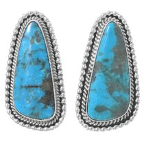 Kingman Turquoise Navajo Earrings 35368