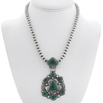 Emerald Valley Turquoise Sterling Silver Pendant 35369