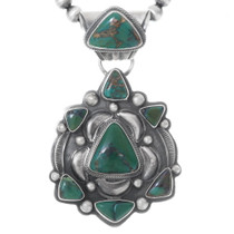 Green Turquoise Native American Pendant 35369