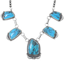 High Grade Turquoise Navajo Necklace 35372