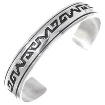 Navajo Overlaid Silver Bracelet 35376
