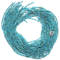 Genuine Turquoise Irregular Disc Beads 34792