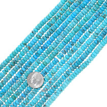 Real Turquoise Rondelle Beads 34796