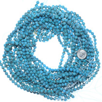 Bright Blue 6mm Round Turquoise Beads 34797
