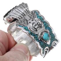 Original Navajo Tommy Singer Turquoise Watch Bracelet 35382