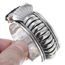 Silver Navajo Watch Banded Silver Design 35384