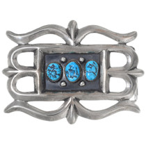 Old Pawn Turquoise Silver Belt Buckle 35386