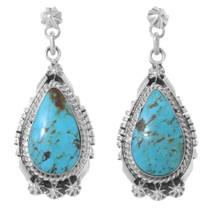Turquoise Mountain Navajo Earrings 35389