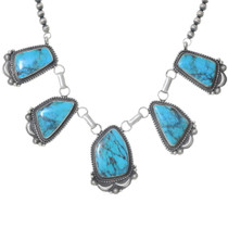 High Grade Turquoise Native American Necklace 35390