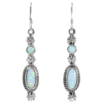Navajo White Opal Earrings 35391