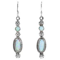 Navajo White Opal Earrings 35391