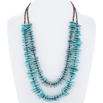 Genuine Turquoise Heishi Pueblo Necklace 35393