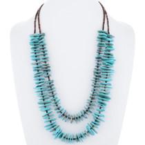 Genuine Turquoise Heishi Pueblo Necklace 35393