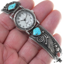 Vintage Native American Turquoise Watch 34914