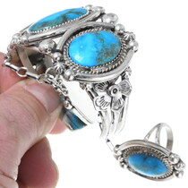 Slave Bracelet Princess Bracelet High Grade Kingman Turquoise 35395