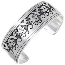Navajo Overlaid Silver Kachina Cuff Bracelet 35397