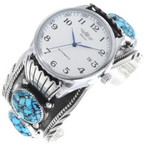 Navajo Turquoise Silver Watch Cuff 35402