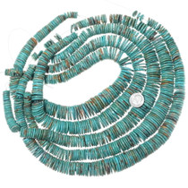 Wide Turquoise Beads Graduated Strand 35502