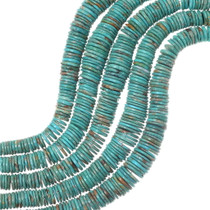 Graduated Turquoise Disc Beads 35502