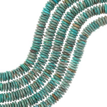 Green Turquoise Disc Beads 35503